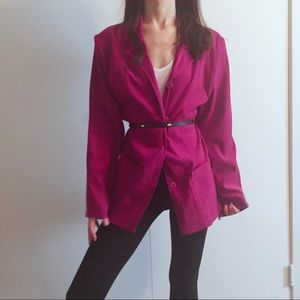 Vintage berry pink blazer/trench coat by Briggs.